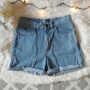 Vintage Riders Light Wash Jean Shorts